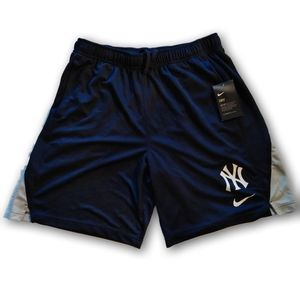 New York Yankees Nike Dri Fit Athletic Shorts